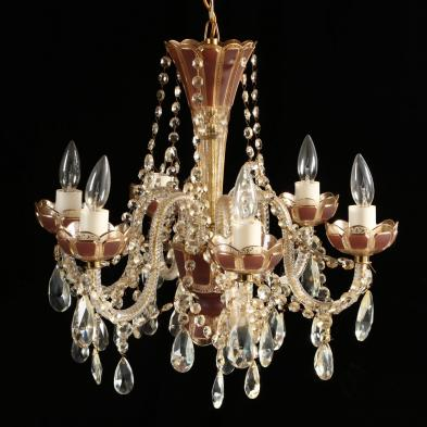 Rare Moser Cabochon Chandelier