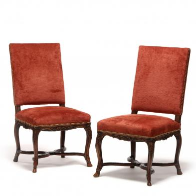 Pair of Continental Hall Chairs