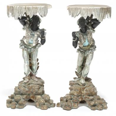 Pair of 20th Century Blackamoor Pedestals