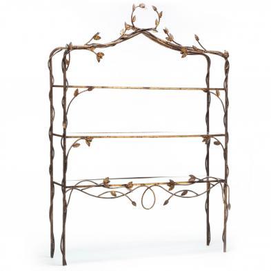 French Art Nouveau Gilt Metal Etagere