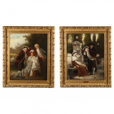 J. Arlet (Continental, 19th century), A Pair of Genre Paintings