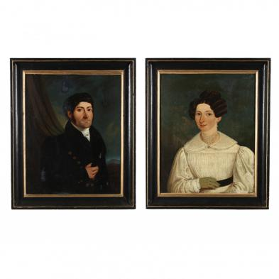 Continental School (19th century), A Pair of Portraits