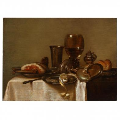 after Willem Claesz. Heda (Dutch, 1594-1680), Still Life with Roemer & Nautilus Cup