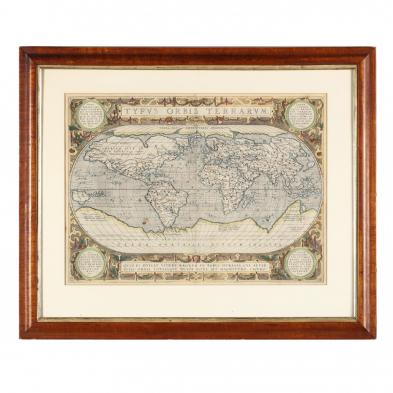 Celebrated 16th Century World Map by Abraham Ortelius