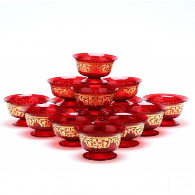 (14) Venetian Glass Finger Bowls