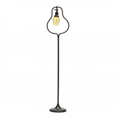 L.C. Tiffany Art Glass Shade on Lamp