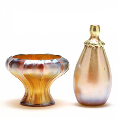 L.C. Tiffany Favrile, Two Vases
