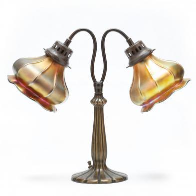 att. Steuben Double Shade Desk Lamp