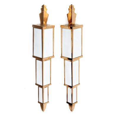 Pair of Art Deco Architectural Sconces