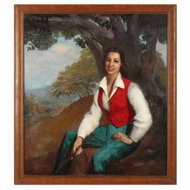 Luis Alfredo Lopez Mendez (Venezuela, 1901-1996), Portrait of Norah Adrianza
