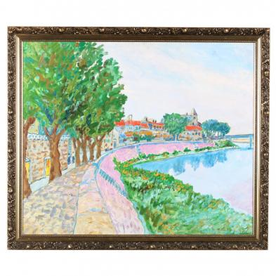 Kyle Highsmith (NC), <i>Early Morning View of the Rhone, Arles, France</i>