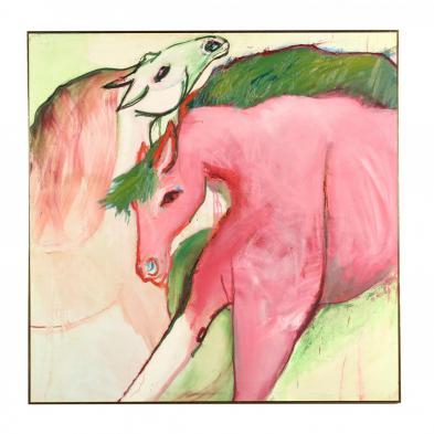 Nanette Mize Rogers (NC, 1945-2007), Untitled - Two Horses
