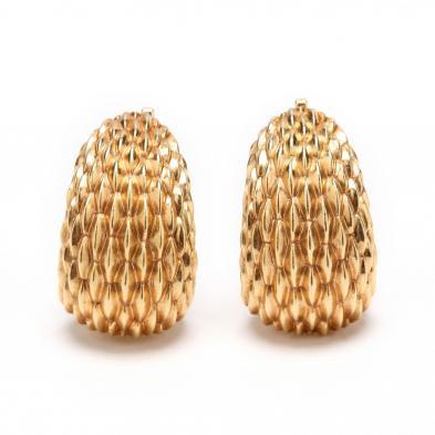 14KT Gold Earrings, Tiffany & Co.