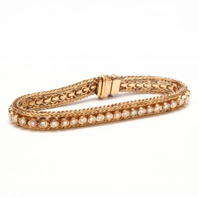 14KT Gold and Diamond Bracelet