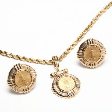 Gold Coin Jewelry Suite