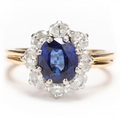 18KT, Platinum, Ceylon Sapphire, and Diamond Ring, Oscar Heyman