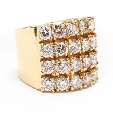 14KT Gold and Multi Diamond Wide Band