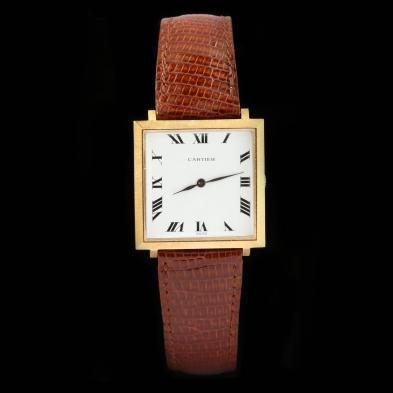 Gent's Vintage 18KT Gold Watch, Cartier / Movado