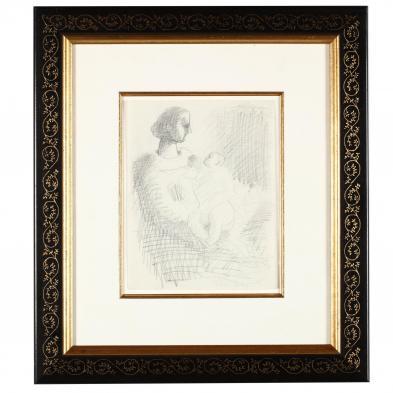 Milton Avery (NY/CT, 1885-1965), Mother & Child #5
