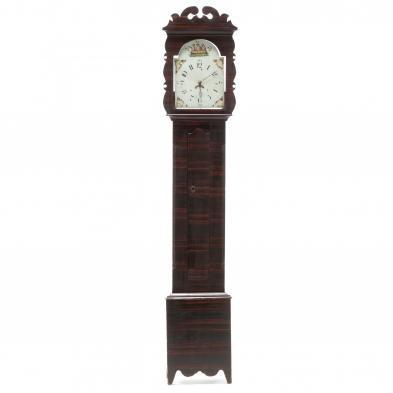 North Carolina Paint Decorated Tall Case Clock