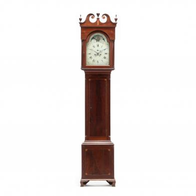 Southern Federal Inlaid Tall Case Clock
