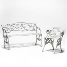 Victorian Cast Iron Settee and Chair