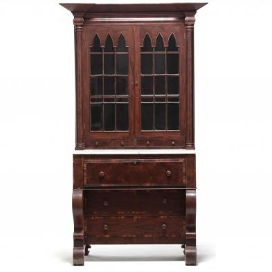 Late Classical American Secretary Bookcase