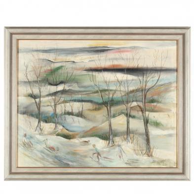 Henry Bannarn (NY/OK, 1910-1965), Sledding