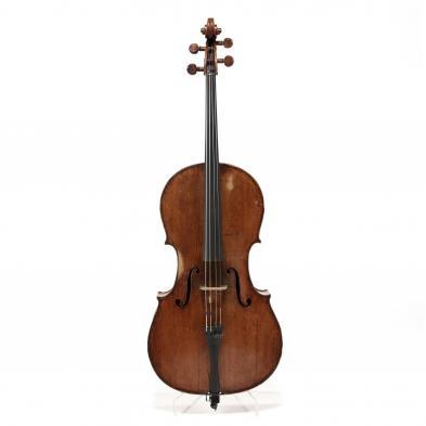 19th Century Continental Cello With Manuscript Pressenda Label