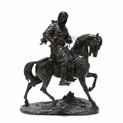 Alfred Barye (France, 1839-1882), An Arab on Horseback
