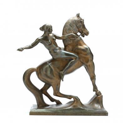 Anton Grath (Austria, 1881-1956), Amazon on Horseback