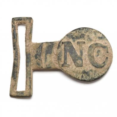 Dug Tongue Portion of Ultra Rare Confederate Two-Piece North Carolina Belt Plate