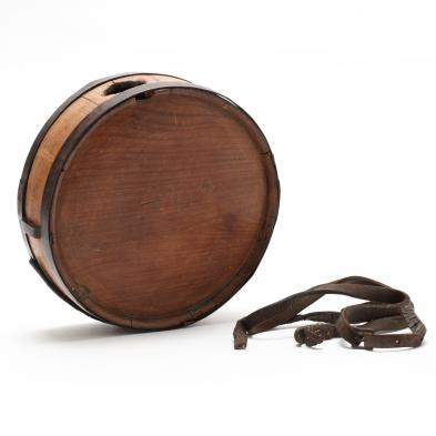 Classic Confederate Wooden Drum Canteen From North Carolina