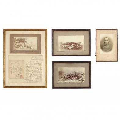 Confederate Colonel John S. Mosby Personal Letter and Signed Photographic Gifts