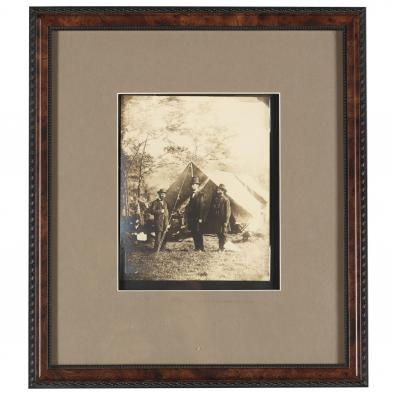 Alexander Gardner Photograph of Lincoln with Secret Service at Antietam