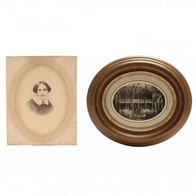 Civil War Albumen Print, U. S. Sanitary Commission, New Bern, North Carolina