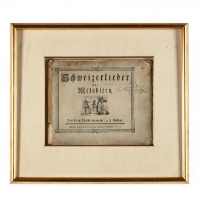 18th Century Swiss Songbook