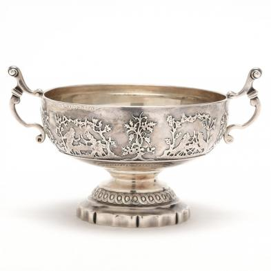 An 18th Century French Silver Two-Handled Bowl