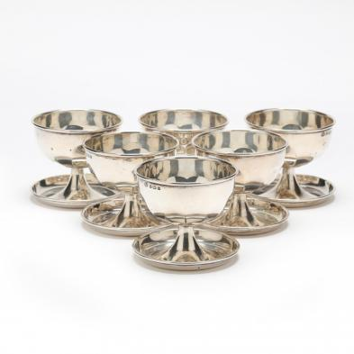 A Set of Six George V Silver Pedestal Bowls