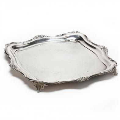 A George V Silver Footed Tray