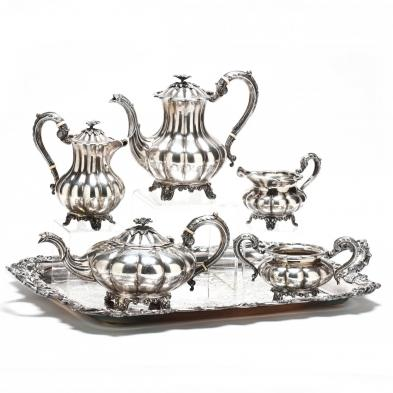 Very Fine Sterling Silver Tea & Coffee Service by Birks