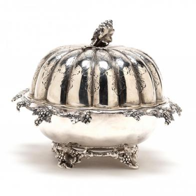 A Boston Coin Silver Butter Dish with Cover