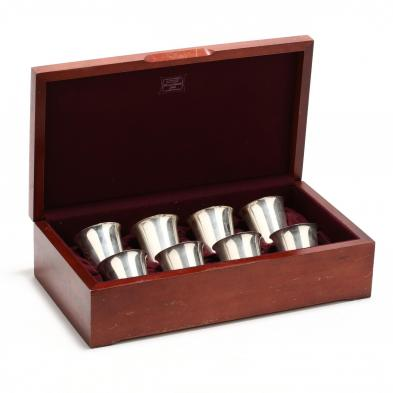 A Set of Eight Sterling Silver Old Fashioneds by International
