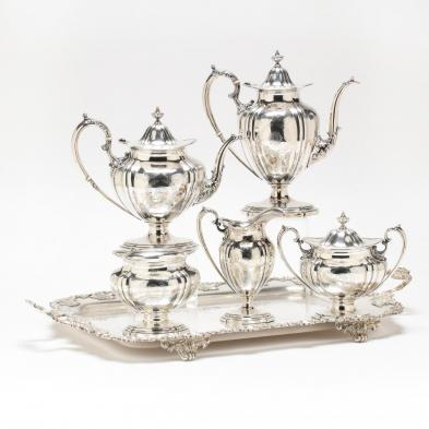 A Durgin Sterling Silver Tea & Coffee Service