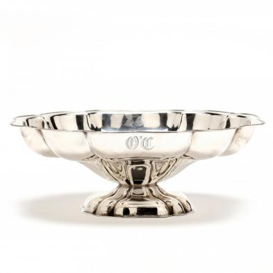 A Large Sterling Silver Pedestal Center Bowl