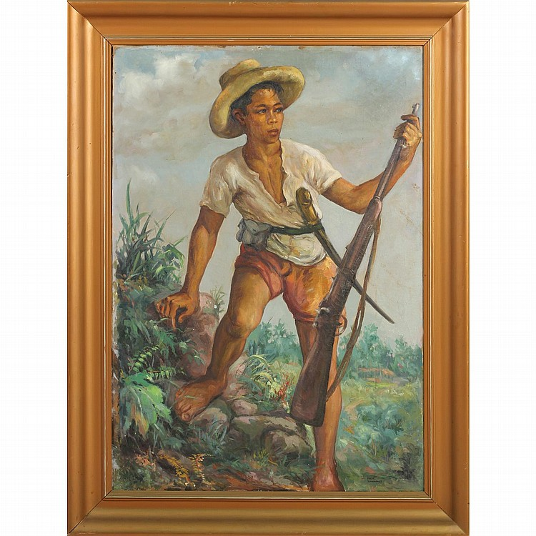 Oscar Navarro (Philippines, 1921-1973), Portrait of a Young Militant