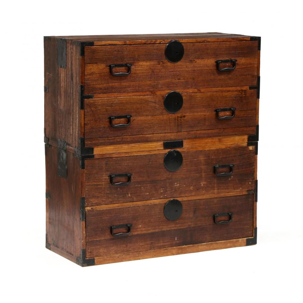 - A Japanese Antique Tansu Chest On Chest