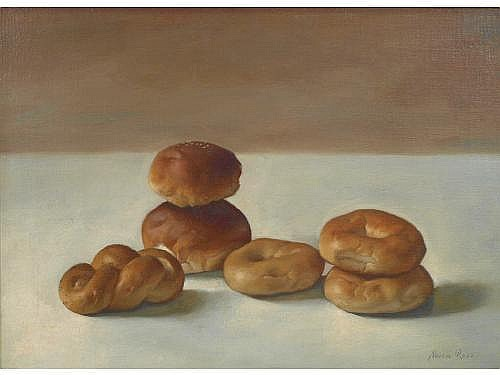 Alvin Ross (NY, 1920-1975), Assorted Rolls, oil on