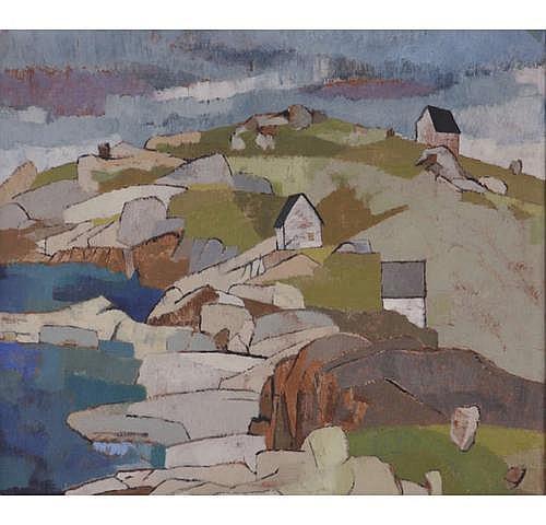 Robert LaHotan (ME, 1927-2002), Cubist Landscape,