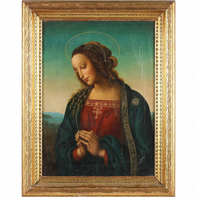 after Perugino (It., 15th/16th c.), Virgin in Adoration